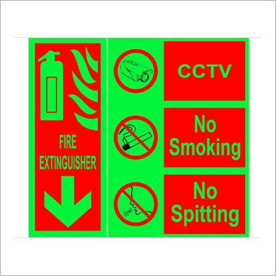 Night Glow Safety Signages