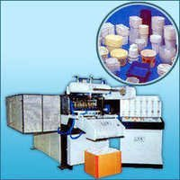 NEW AUTOMATIC PLASTIC PP / FIBER / EPS GLASSES DONA PLATE MAKING MACHINE URGENT SELLING IN BHOPAL