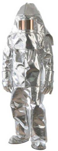 被镀铝的火接近度衣服