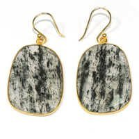 Black Routile 925 Sterling Sliver Earring Jewelry