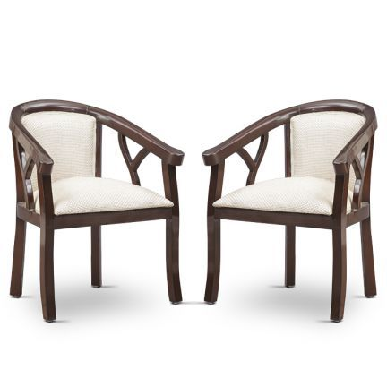 Veleda Lobby Chair Walnut