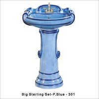 Big sterling wash basin