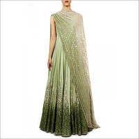 Anarkali Suit With Mirror Work Dupatta