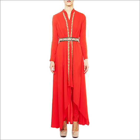 Cape Dress With Pant