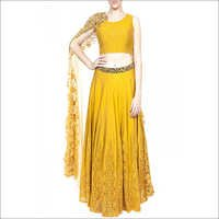 Kali Lehenga With Quilted Blouse