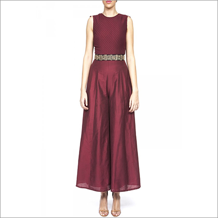 Jumpsuit With Embroidered Drape