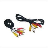 3 Rca Composite Audio Video Av Cable