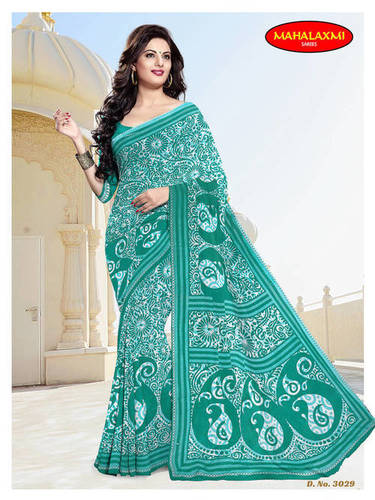 Jetpur Cotton Printed Sarees