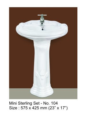Wash Basin and Pedestal