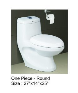 Round One Piece Water Closet