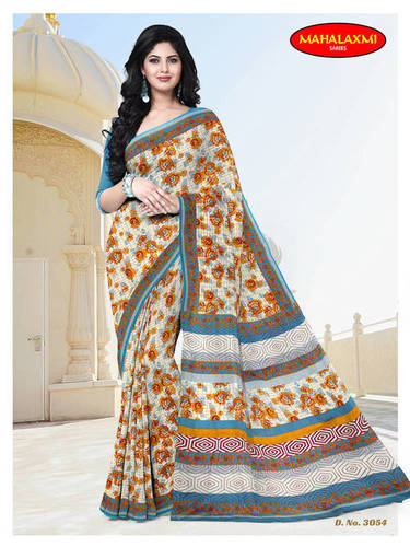 Cotton Printed Sarees Wholesale Rate
