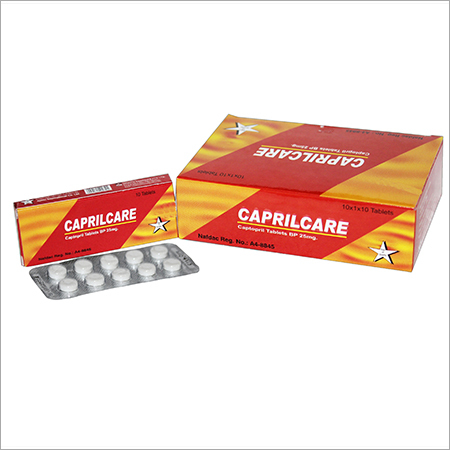Caprilcare (Captopril) Tablets 25 mg