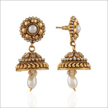 Designer Golden Jhumka