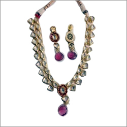 Antique Vilandi Kundan Necklace Set