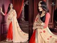 Nylon Designer Saree