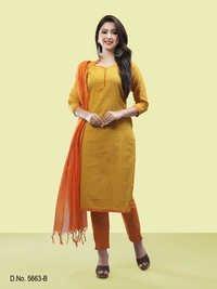 Zigzag Pattern Dress Material