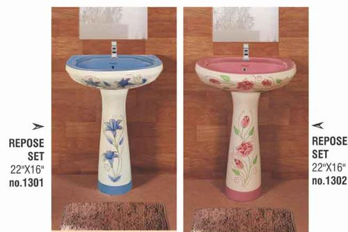 Colored Pedestal Wash Basin