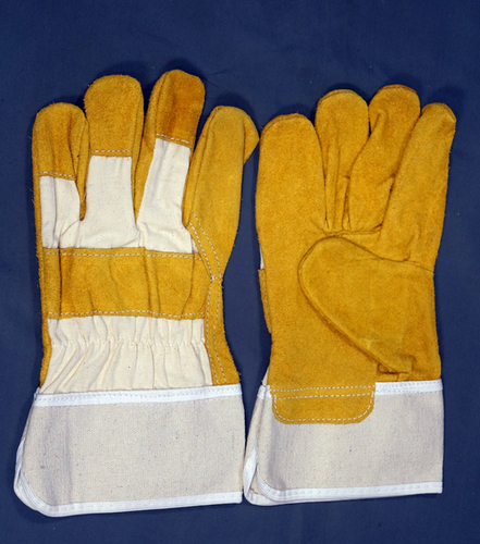 Yellow Split Leather Working Gloves