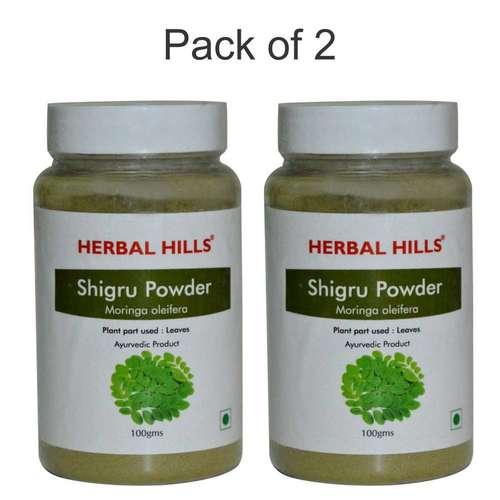 Ayurvedic Moringa Shigru Powder 100gm for Joint Pain Relief (Pack of 2)