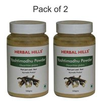 Ayurvedic Yashtimandhu powder 100gm for Cough & Cold, Immunity booster (Pack of 2)