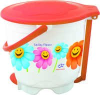 Wave Garbage Bucket Round Small (Printed)