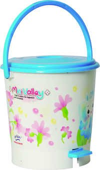 Garbage Bucket Round Small  Assembled Light (Print