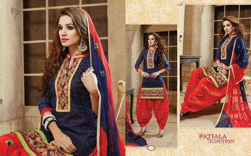 Dupatta Work Patiala Salwar Kameez Wholesale