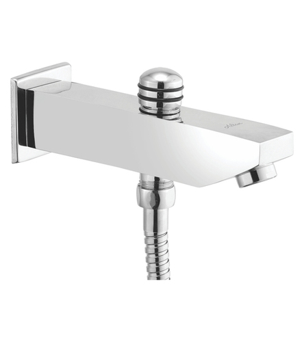 Bath Tub Spout with Button Attachment for Tele