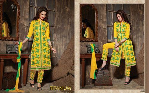 Titanium Bottom Work Salwar Suits Wholesale
