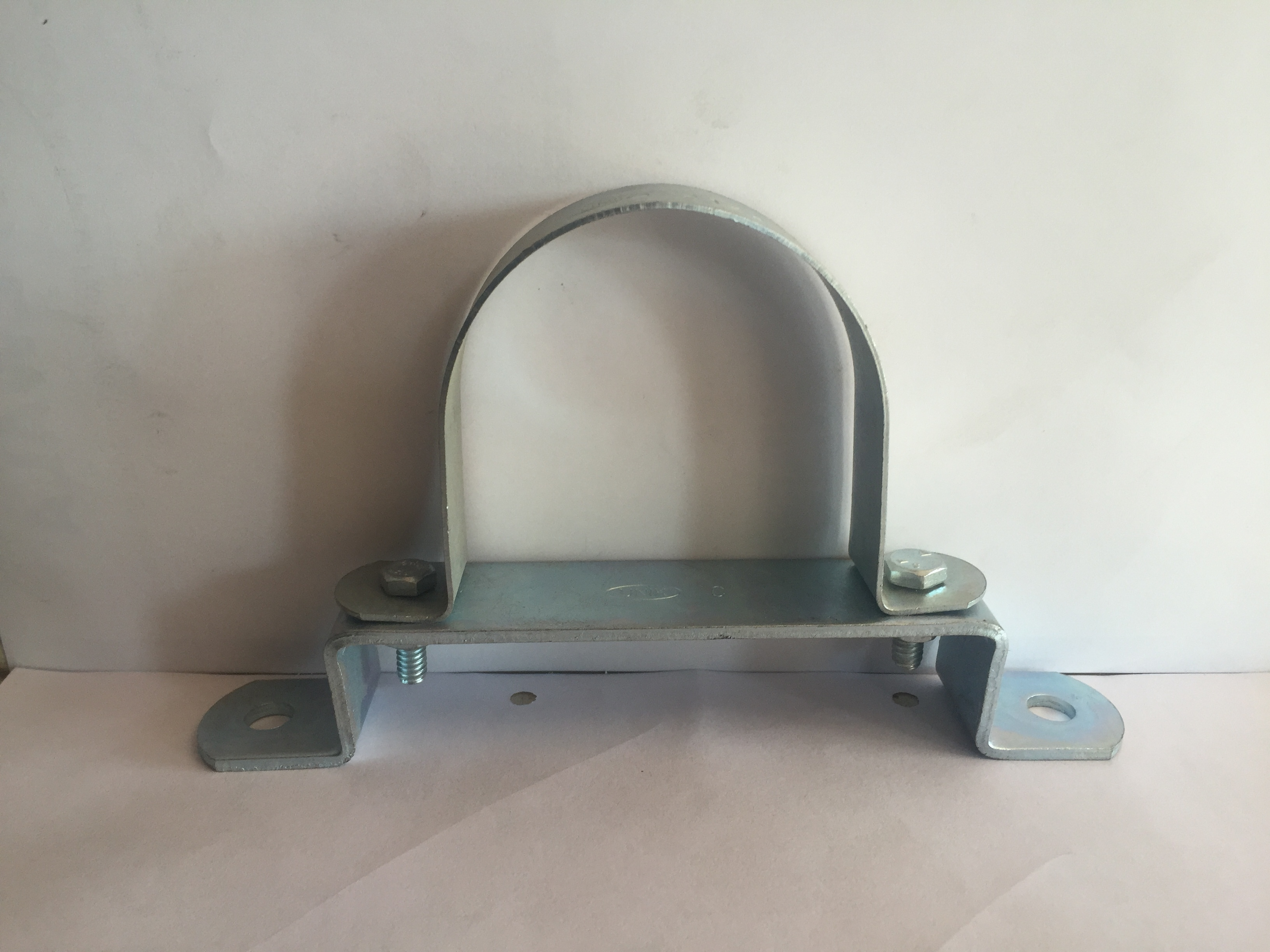 Base U clamp for PVC pipe
