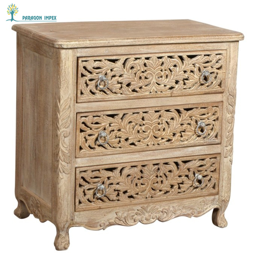 Antique Wooden Carving Sideboard