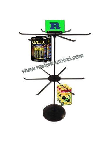 Table Top 2 Level Revolving Stand For Electronic Store