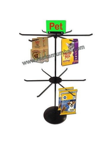 Table Top 2 Level Revolving Stand For Pet Products