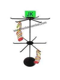 Table Top 2 Level Revolving Stand for Socks