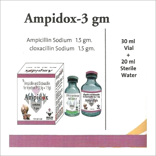 Ampicillin Sodium 1.5gm cloxacillin Sodium 1.5gm
