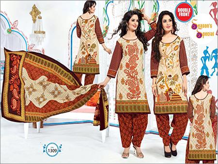 Ladies Unstitched Cotton Dress