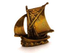 Vintage Brass Ship