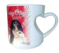 Mug With Inside Heart-Shaped Handle