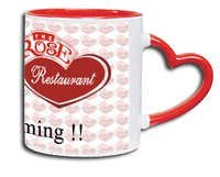 Mug With Outside Heart-Shaped Handle