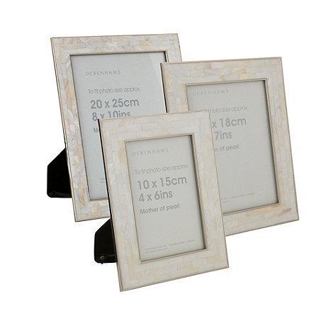 Debenhams Ivory Mother Of Pearl Photo Frames