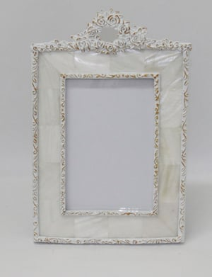 Photo Frame 4A 6 Rosette Mother of Pearl