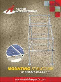 mounting structure for solar modules