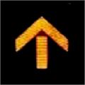 Yellow Arrow Straight