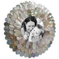 Round Frame in Mother of Pearl