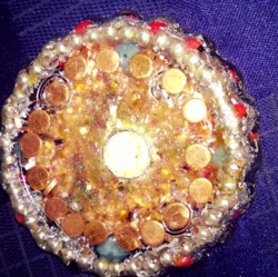 Orgone Water Ionizing Coaster Copper & Magnets Ins