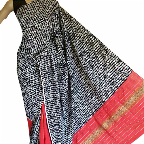 Black and Red Khesh Gurjari Saree
