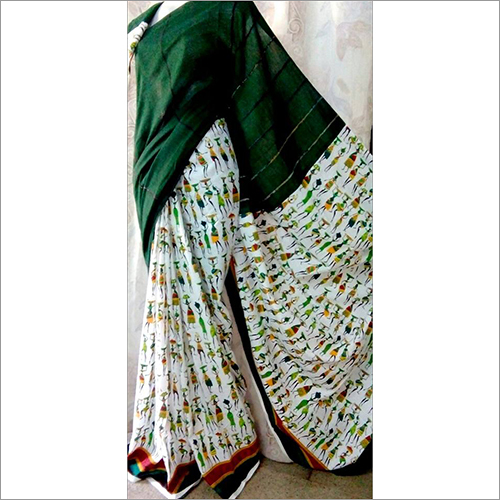 Dark Green Khesh Gurjari Saree