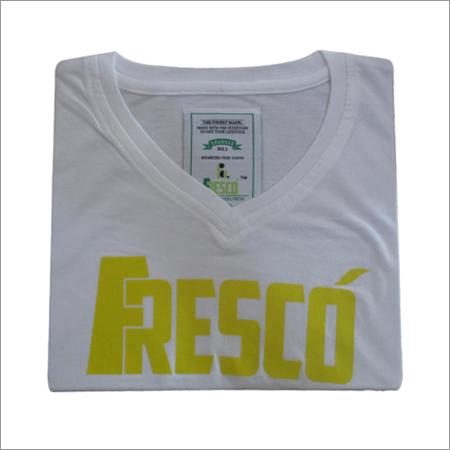 White V Neck T Shirts