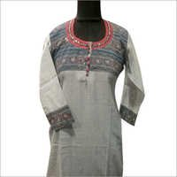 Designer Neck Long Kurtis
