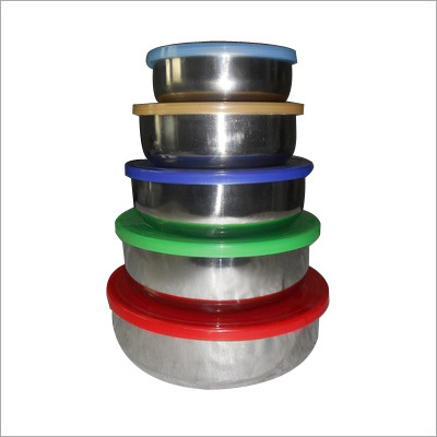 Colored Lid Steel Bowl